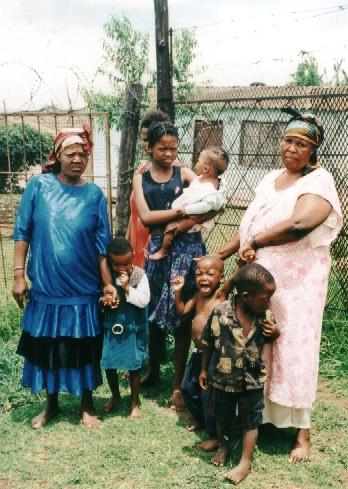 These two older women care for 20 children whose parents died of AIDS. The World Hunger Fund helps support a feeding project that helps families like this.