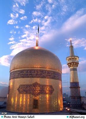 The golden dome of the Imam Reza shrine