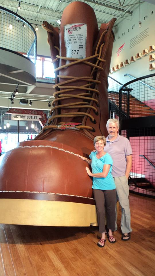 What trip to Red Wing, Minn., would be complete without seeing The Big Boot? Size 638 1/2 D!