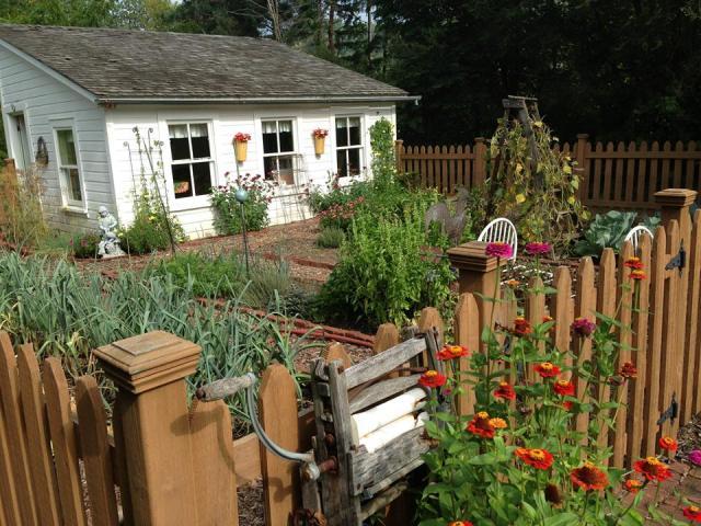 The B&B's garden plot.